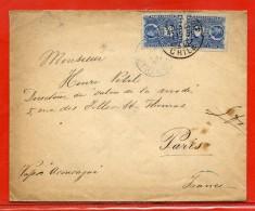CHILI LETTRE DE 1908 DE VALPARAISO POUR PARIS FRANCE - Chili