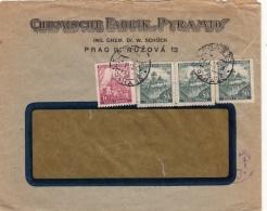 Lettre Böhmen Und Marhen CaD Praha 1921 - Lettres & Documents