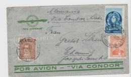 Arg185 /  ARGENTINIEN - Mit CONDOR LATI Nach Chemnitz 1940 - Argentinien
