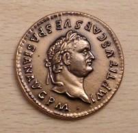 PROMO  Reproduction Monnaies Antiques Médaille Titus 79 à 81 Après JC - Autres