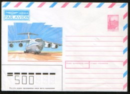 Russia USSR Air Mail Stationery Cover 50kop., Aircraft - Montgolfières