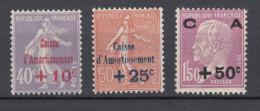 Francia - Caisse D´Amortisement Yv. 249/251 ** - Francia