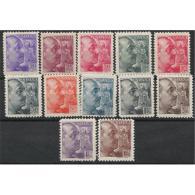 ES867STV-LFT3983.España Spain.Espagne GENERAL FRANCO SANCHEZ-TODA 1939 (Ed 867/78**) Sin Charnela MAGNIFICA - 1931-50 Nuevos & Fijasellos
