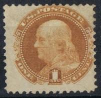 Sello 1 Ctvos Bistre  Franklin, Busto De Houdon 1869, Yvert Num 29 * - 1847-99 General Issues