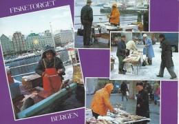 Norway  Bergen  Views Fisketorget - Fishmarket.   . # 05001 - Markets
