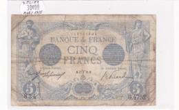 Billet De 5 Francs Bleu Du 17/03/1915 BELIER - G.4752 Alph 834 @ N° Fayette : 2.25 - 5 F 1912-1917 ''Bleu''