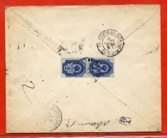 RUSSIE LETTRE RECOMMANDEE DE 1891 DE MOSCOU POUR PARIS FRANCE - 1857-1916 Empire