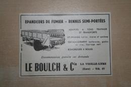 PUB 1961 Agricole Epandeur LE BOULCH LA VIEILLE LYRE Eure (27) - Publicités
