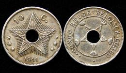 10 Centimes 1911 Congo Belge/Belgisch Congo. Albert I°. Colonie Belgique - Congo (Belge) & Ruanda-Urundi
