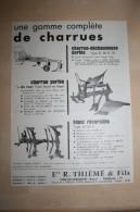 PUB 1961 Agricole Charrues  THIEME FERE EN TARDENOIS Aisne (02) - Publicités
