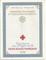 CARNET CROIX ROUGE  ANNEE 1959 - N° 2008 - NEUF - LIRE DESCRIPTION - Red Cross