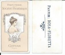 Carte Parfumée COTTAN - Verso Rosa-floretta - Art Nouveau - Cartes Parfumées