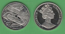 Gibilterra Gibraltar 2,8 ECUS 1993 Eurotunnel England France - Gibilterra