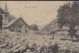CPA:Modane:Place De L´Eglise:Catastrophe De 1906 - Modane