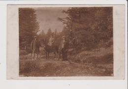 CARTE PHOTO - Au Mont Dore Près Du Sancy 1907 Promenade En Ane - Le Mont Dore