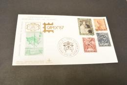 PW579- Kim Cover-Historic Philatelic Documents Of Vatican City-1987-Johannes Paulus II-Capex '87 - FDC