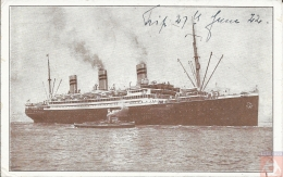 USA - Carte Postale PAQUEBOT - NEW YORK - Posted At Sea 1922 - United Station Sea Post - Piroscafi