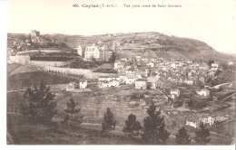 Caylus (Tarn Et Garonne)-écrite En 1915 Par Un Poilu-Vue Prise Route De Saint Antonin-Edit.Dejean Et Vve Vaissié, Caylus - Caylus