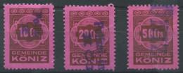 1311 - KÖNIZ Fiskalmarken - Steuermarken