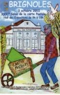 ILLUSTRATEUR JEAN LOUIS BERSIA POUR LE XXXÈME SALON DE LA CP À BRIGNOLES - Bourses & Salons De Collections