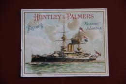 """ETIQUETTE PUBLICITAIRE BISCUITS """" HUNTLEY And PALMERS """", Reading LONDON, Série De BATEAUX. - Other"""