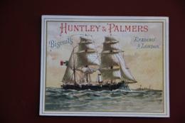 """ETIQUETTE PUBLICITAIRE BISCUITS """" HUNTLEY And PALMERS """", Reading LONDON, Série De BATEAUX. - Confiserie & Biscuits"""