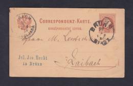 Entier Postal Boheme & Moravie De Brünn Vers Laibach - Lettres & Documents