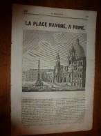 1835 LM :Place Navone à Rome (texte Et Gravure); Louis VI; Charles Le Bon; Prospérité Aux USA; Les Cétacés; Le Marsouin - Livres, BD, Revues