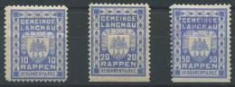 1316 - LANGNAU Fiskalmarken - Fiscaux