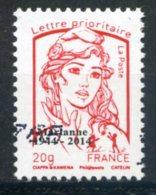 "FRANCE   2014 .  Surchargée ""Marianne 1944/2014""   Oblit / Used - 2013-... Marianne (Ciappa-Kawena)"