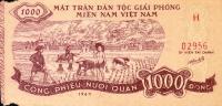 Vietnam North, Pick Nr. ?, 1000 Dong, 1964, Military Banknote,  RARE ! - Vietnam