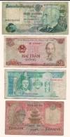 Lotto Di N.4  Banconote - Portogallo, Vietnam, Myanmar, Bangladesh - Anni Diversi. - Monete & Banconote