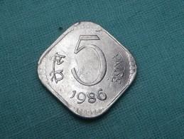 INDE 5  PAISE   1986  CALCUTTA  -  KM 23 - Inde