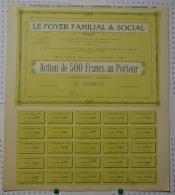 Nouveau: Le Foyer Familial Et Social à Nancy, Petit Tirage. - Banque & Assurance