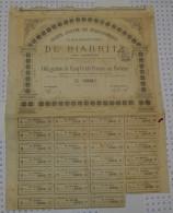 Grand Hotel Et Casino De Biarritz En 1880 - Casino