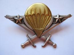 INSIGNE BREVET PARACHUTISTE DU CAMEROUN AVEC 2 ETOILES DRAGO PARIS ETAT EXCELLENT - Army
