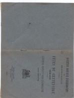 Braine L' Alleud / Société Royale D'Harmonie - Fêtes Du Centenaire - 1819-1919 / Brochure 1920. - Documents Historiques