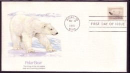 ARCTIC OSO POLAR BEAR OURS POLAIRE EISBÄR - USA 1981 FDC - Bears