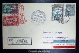 Graf Zeppelin 4. Sudamerikafahrt Sieger 264  Mixed Stamps.  Cover  To Lorch - Luftpost