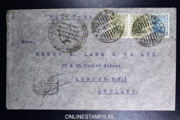 Graf Zeppelin 4. Sudamerikafahrt Sieger 263  Mixed Stamps. Cover Montevideo  To London UK - Uruguay