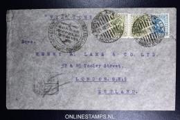 Graf Zeppelin 4. Sudamerikafahrt Sieger 263  Mixed Stamps. Cover Montevideo  To London UK