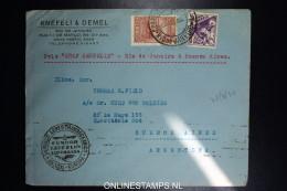 Graf Zeppelin 3. Sudamerikafahrt Sieger 255 A Mixed Stamps.  Cover Rio  To Buenos Aires Argentina - Luftpost