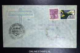 Graf Zeppelin 8. Sudamerikafahrt Sieger 275 A   Cover   Recife  To Liverpool UK - Luchtpost