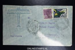 Graf Zeppelin 6. Sudamerikafahrt Sieger 269 A   Cover   Recife  To Liverpool UK - Luchtpost