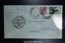 Graf Zeppelin 4. Sudamerikafahrt Sieger 261 A   Cover   Recife  To Liverpool - Luchtpost