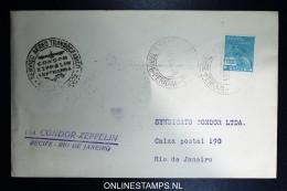 Graf Zeppelin 7. Sudamerikafahrt Sieger 272 D   Cover   Recife  To Rio - Luftpost