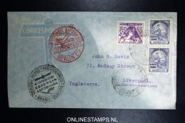 Graf Zeppelin 9. Sudamerikafahrt Sieger 275 A   Cover   Recife  To Liverpool - Luchtpost