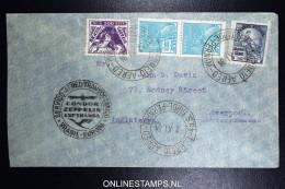 Graf Zeppelin 11. Sudamerikafahrt Sieger 284 A   Recife  To Liverpool - Luchtpost