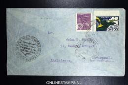 Graf Zeppelin 10. Sudamerikafahrt Sieger 281 A   Recife  To Liverpool - Luchtpost