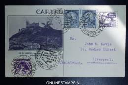 Graf Zeppelin 11. Sudamerikafahrt Sieger 284 A Uprated Postal Stationary Recife  To Liverpool - Luftpost